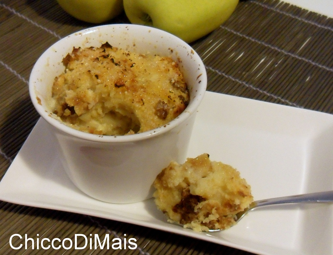 Budino di panettone alle mele ricetta del riciclo il chicco di mais