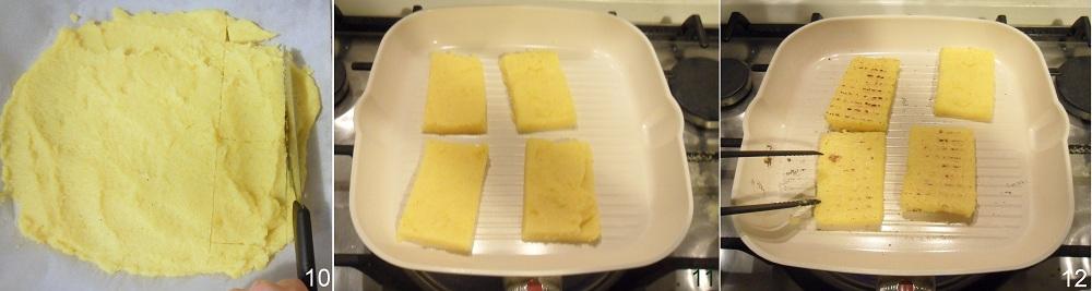 Crostini di polenta con salsiccia e brie ricetta antipasto il chicco di mais 4