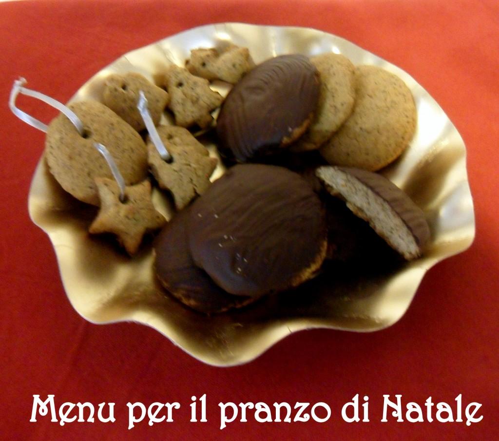 Dessert del pranzo del 25 biscotti speziati Lebkuchen ricetta menu di Natale il chicco di mais