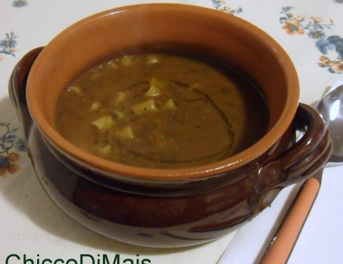 Minestra di pasta e lenticchie (ricetta vegana)