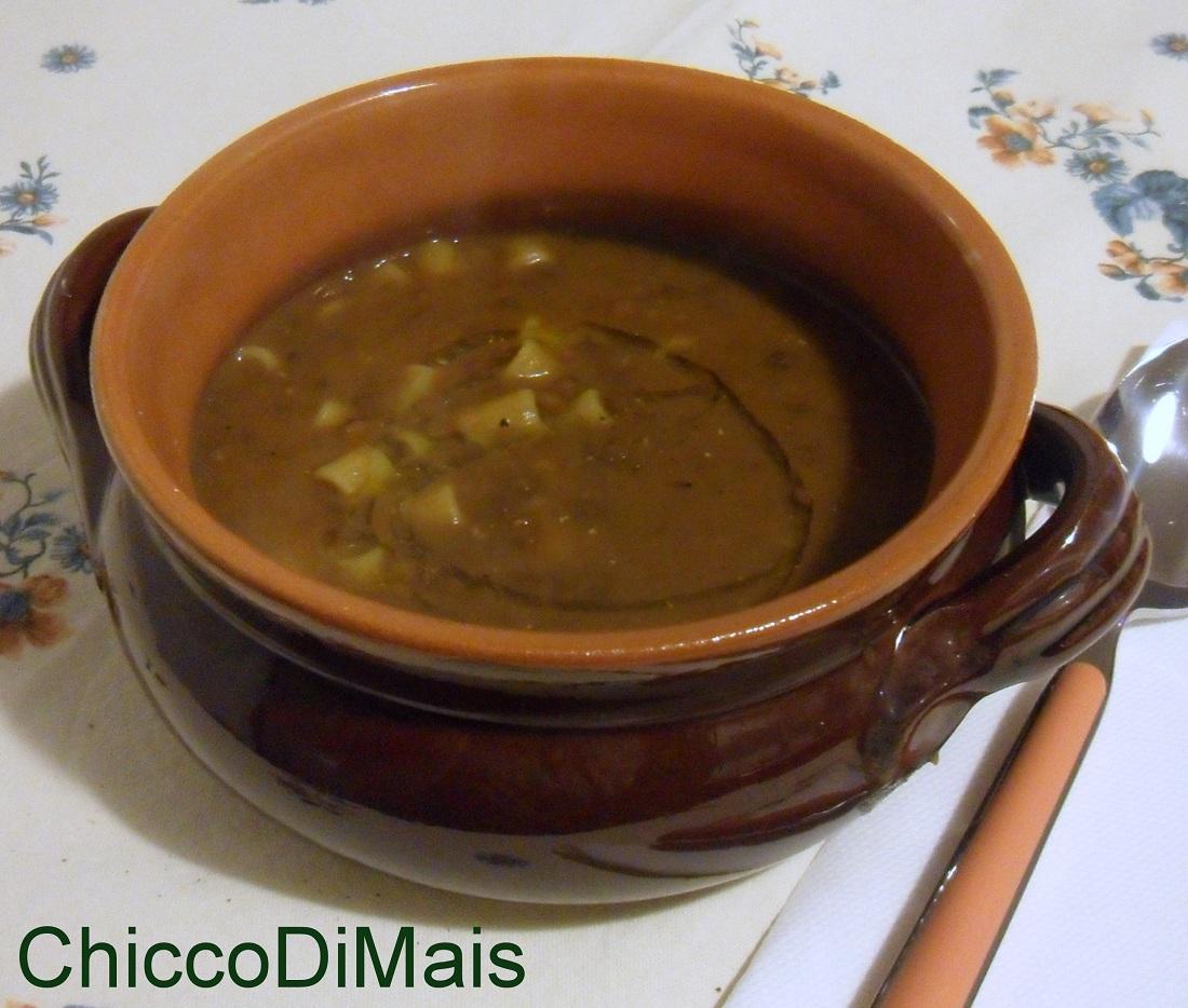 Minestra di pasta e lenticchie ricetta vegana il chicco di mais
