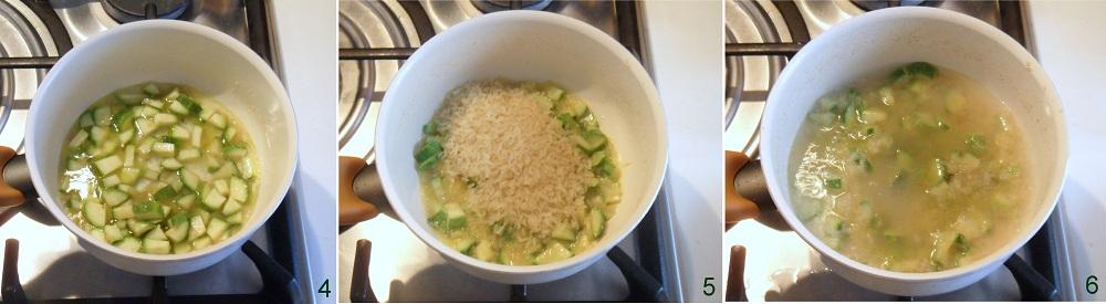 Risotto al gorgonzola e zucchine ricetta primo il chicco di mais 2