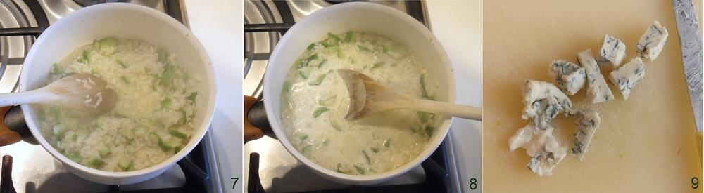 Risotto al gorgonzola e zucchine ricetta primo il chicco di mais 3