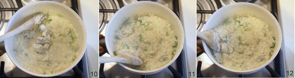 Risotto al gorgonzola e zucchine ricetta primo il chicco di mais 4