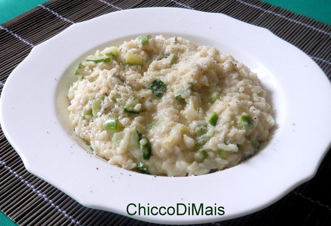 Risotto al gorgonzola e zucchine ricetta primo il chicco di mais