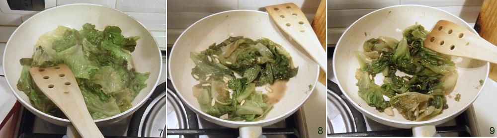 Scarola in padella ricetta contorno veloce il chicco di mais 3