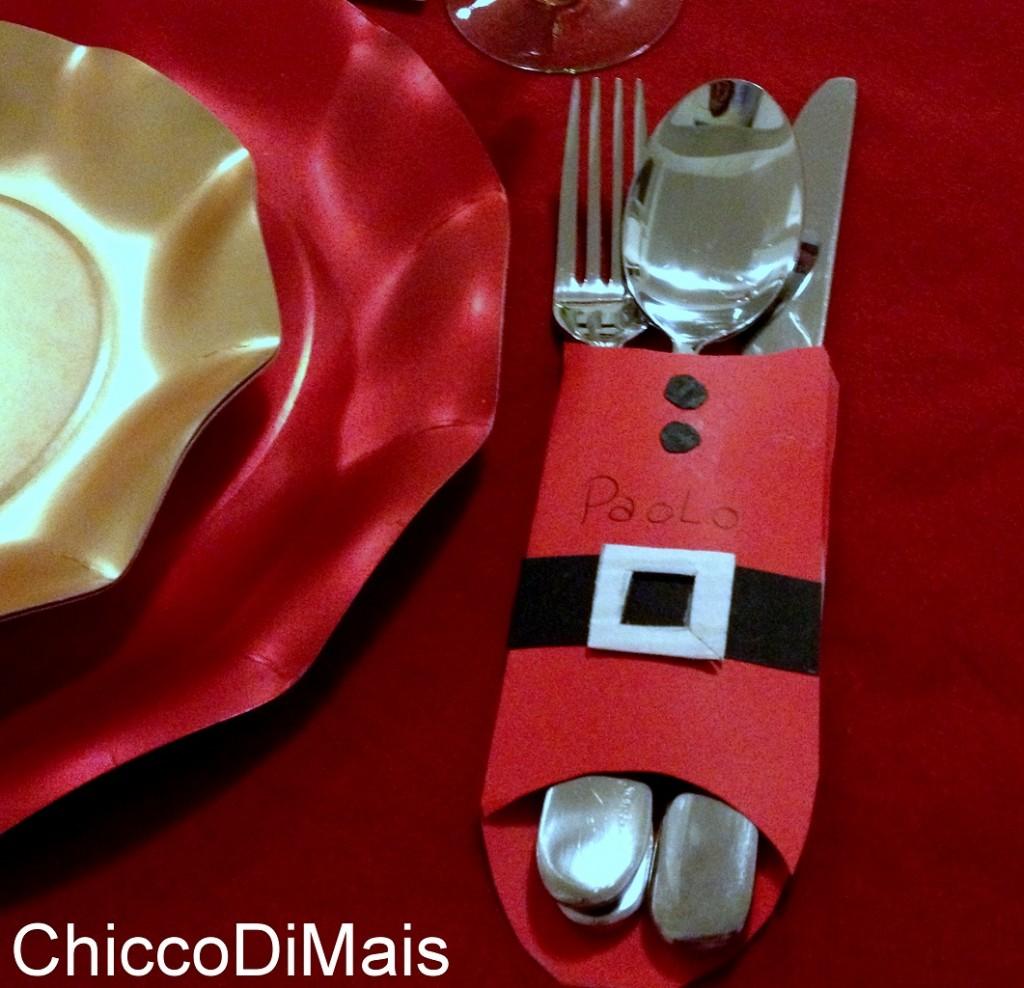 Segnaposto di Natale per la vigilia idea fai da te menu di Natale il chicco di mais