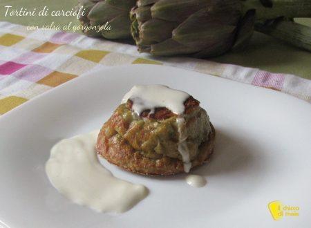 Tortini di carciofi con salsa al gorgonzola (ricetta raffinata)