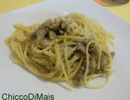 Carbonara di carciofi (ricetta vegetariana)