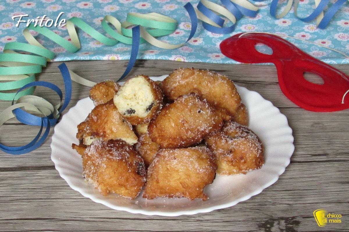 dolci di carnevale Fritole veneziane ricetta originale frittelle di Carnevale con uvetta il chicco di mais