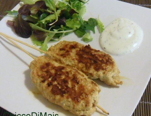 Kebab di pollo con salsa allo yogurt (ricetta etnica)
