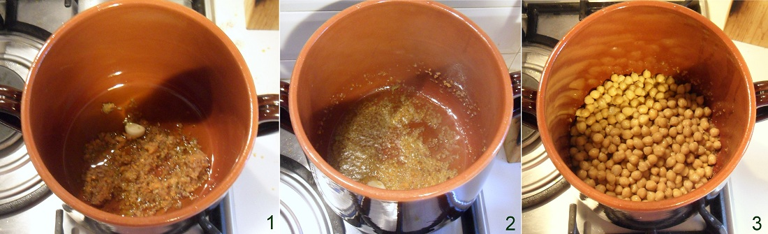 pasta e ceci cremosa ricetta zuppa invernale facile e veloce il chicco di mais 1 soffriggere odori