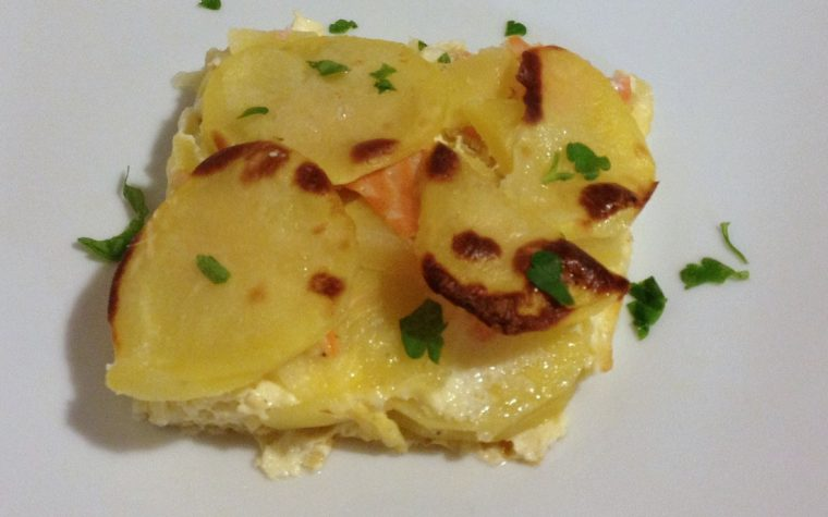 Sformato di salmone e patate (ricetta antipasto)