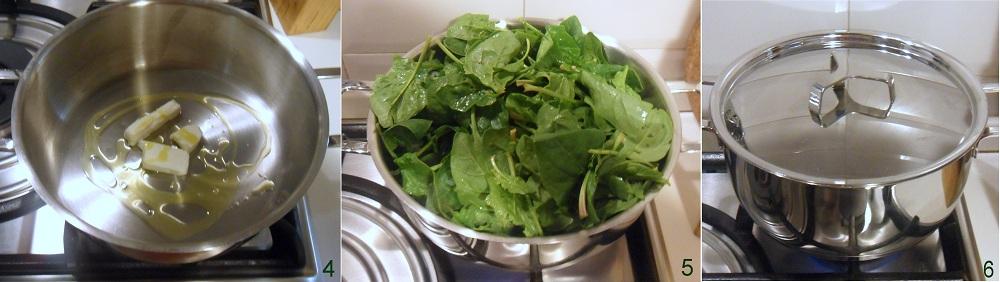 Spinaci filanti con mozzarella ricetta contorno il chicco di mais 2