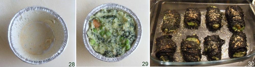Involtini di cavolo con tortini di verdure ricetta involtini vegetariani il chicco di mais 10