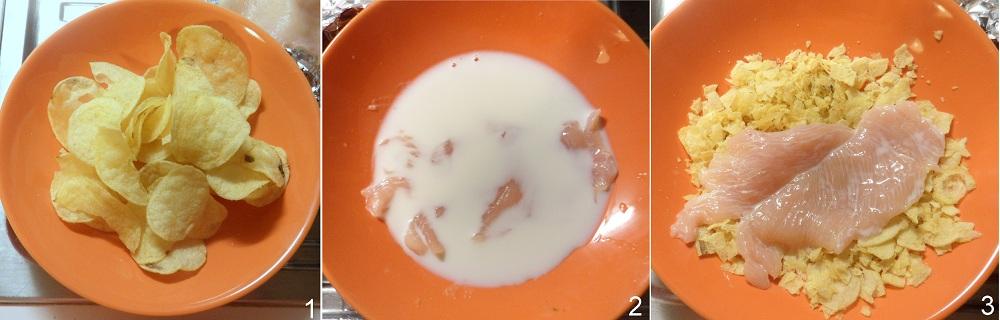 Pollo in crosta di patatine ricetta veloce il chicco di mais 1
