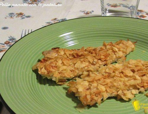 Pollo panato con le patatine in busta (ricetta veloce)