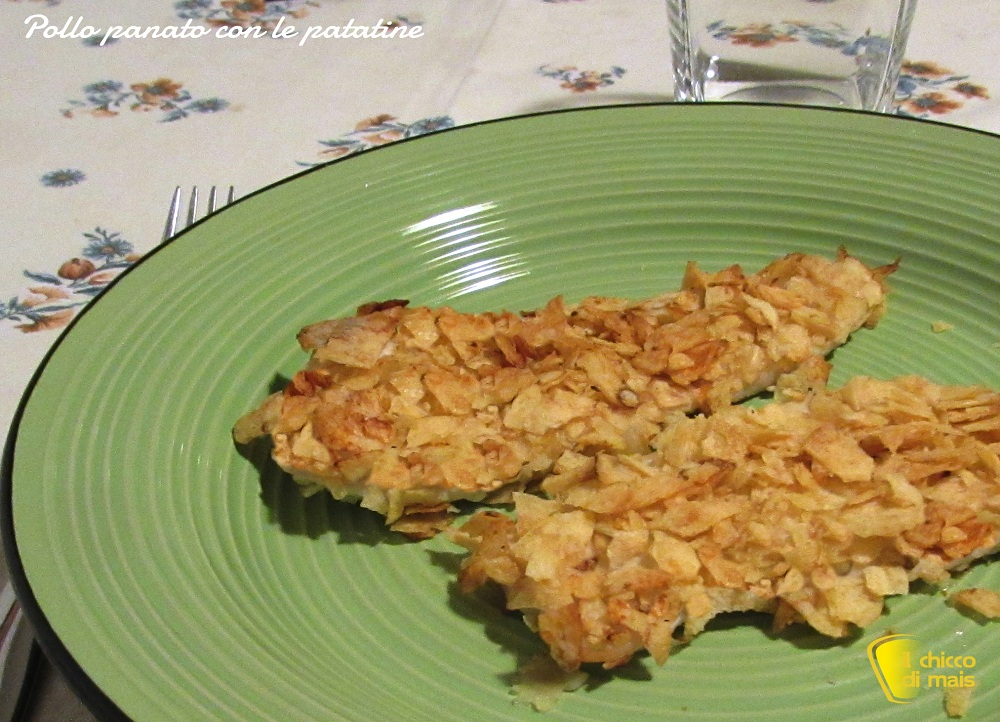 Pollo panato con le patatine in busta ricetta veloce il chicco di mais