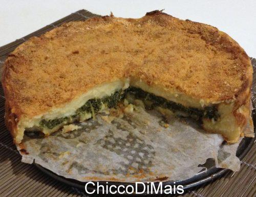 Torta di patate con ricotta e spinaci (ricetta rustica)