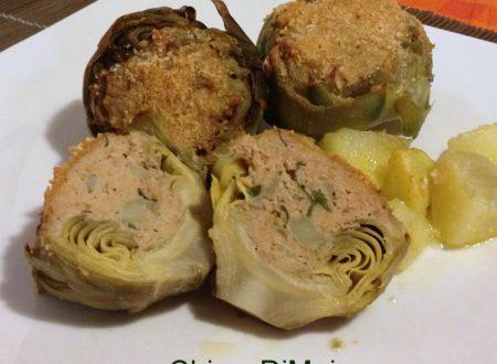 Carciofi ripieni di carne (ricetta al forno)