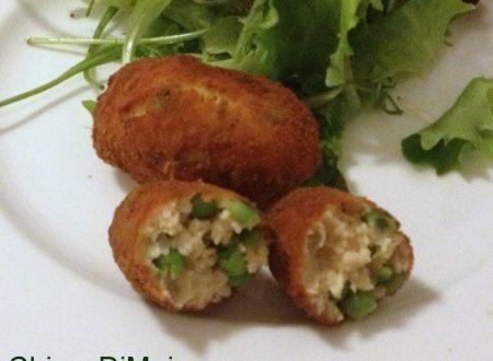 Crocchette di pollo con piselli (ricetta secondo)