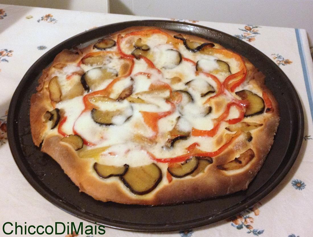 Pizza alle verdure ricetta vegetariana il chicco di mais