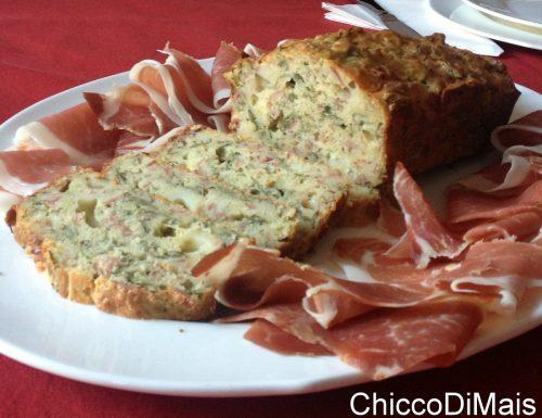 Plumcake salato con speck e rucola (ricetta torta salata)
