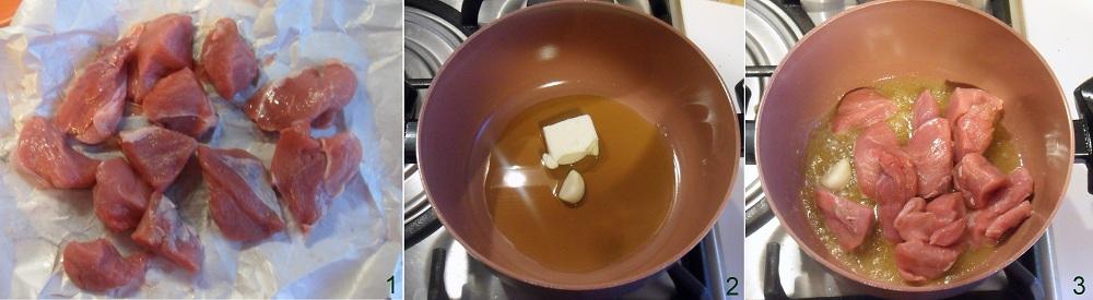 Spezzatino alla crema di noci ricetta secondo il chicco di mais 1
