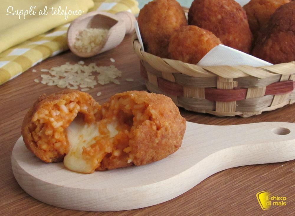 Supplì al telefono con pomodoro e mozzarella ricetta originale romana crocchette di riso con mozzarella filante il chicco di mais