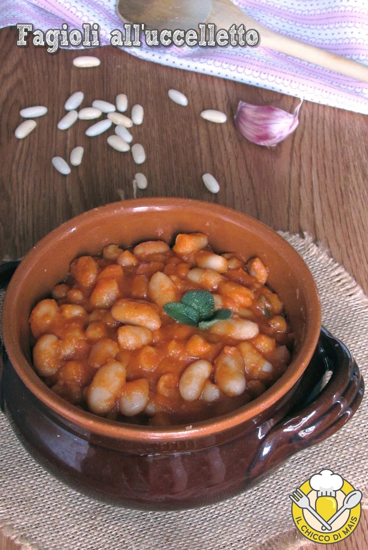 verticale_Fagioli all'uccelletto ricetta toscana originale fagioli cannellini al pomodoro in umido il chicco di mais
