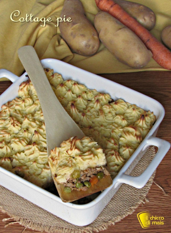 verticale_cottage pie pasticcio di carne con copertura di patate ricetta inglese il chicco di mais