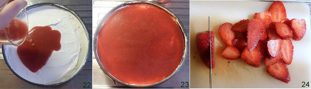 Cheesecake di fragole ricetta senza cottura il chicco di mais 8
