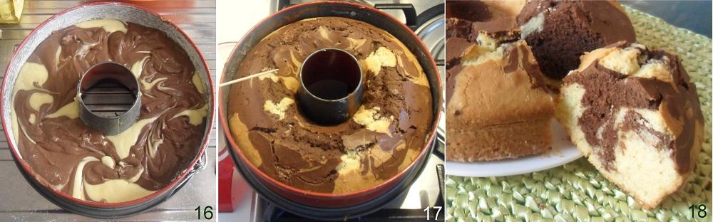 Ciambella variegata al cacao ricetta colazione il chicco di mais 6