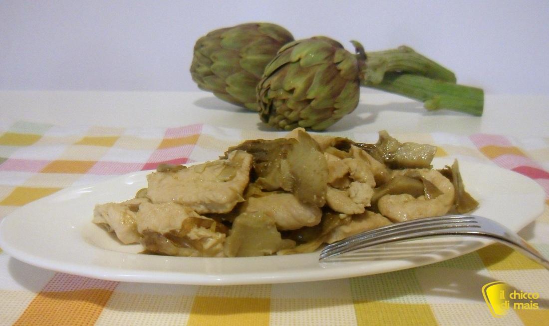 Ricette con carciofi facili e veloci il chicco di mais Pollo ai carciofi