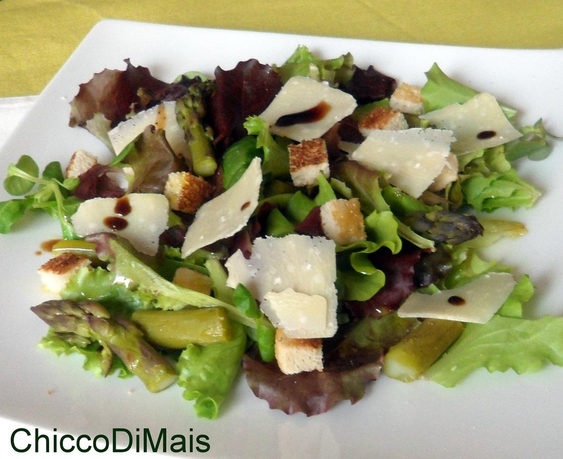 Insalata con asparagi e grana ricetta light il chicco di mais