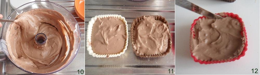 Mini cheesecake al nesquik ricetta senza cottura il chicco di mais 4