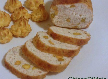 Polpettone di pollo con pistacchi (ricetta al tegame)