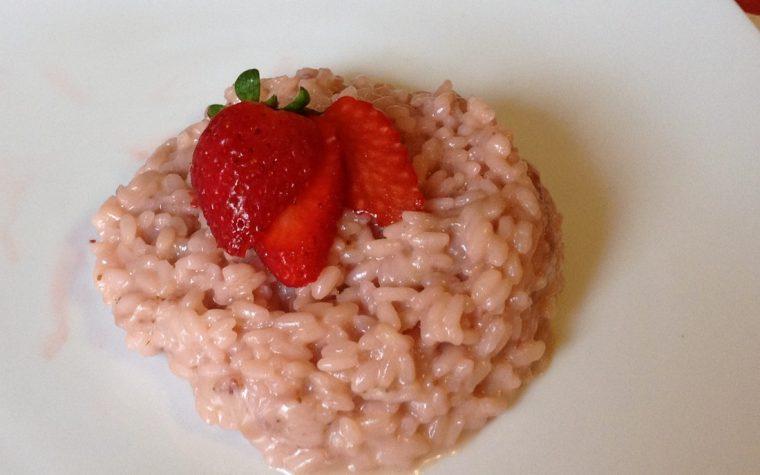 Risotto alle fragole (ricetta primo)