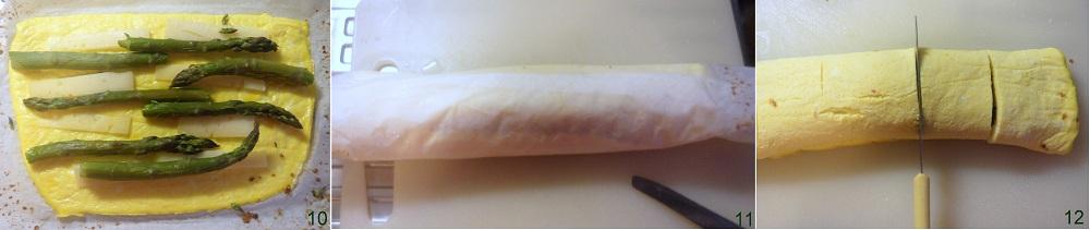 Rotolini di frittata con asparagi e formaggio ricetta vegetariana il chicco di mais 4