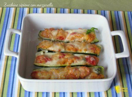 Zucchine ripiene con mozzarella (ricetta vegetariana)