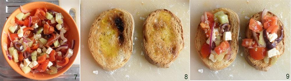 Bruschette alla greca ricetta estiva il chicco di mais 3