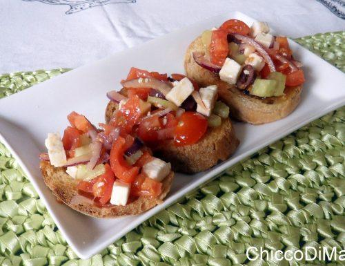 Bruschette alla greca (ricetta estiva)
