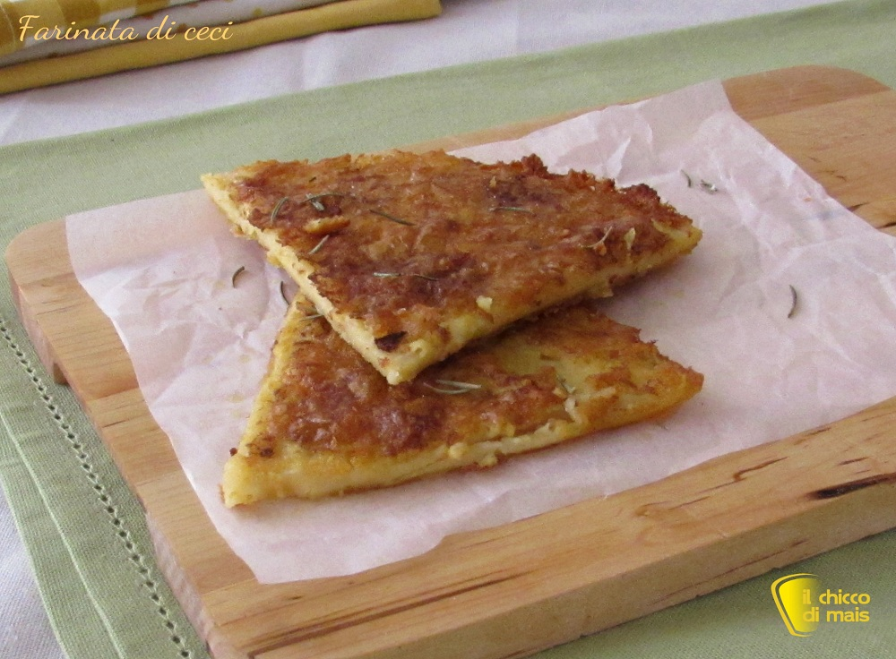 ricette per pasquetta Farinata di ceci ricetta ligure il chicco di mais