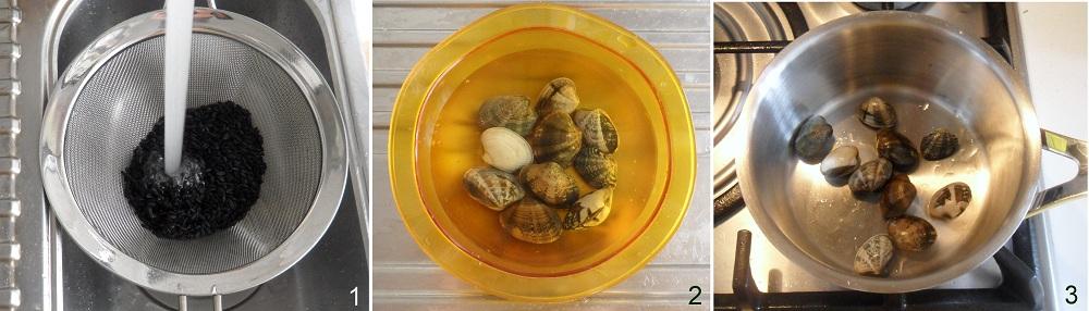 Riso venere con vongole e zucchine ricetta di pesce il chicco di mais 1