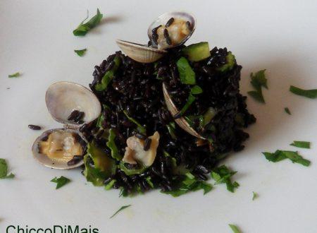 Riso venere con vongole e zucchine (ricetta di pesce)