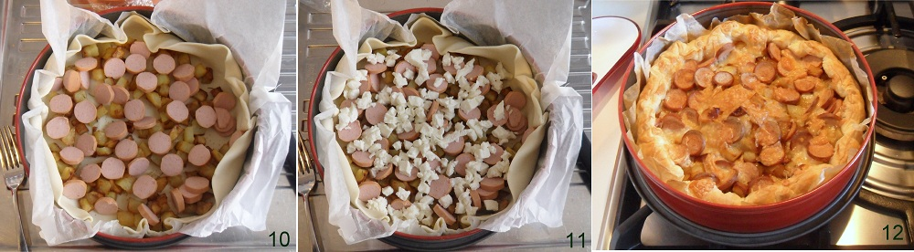 Torta salata con wurstel e patate ricetta saporita il chicco di mais 4