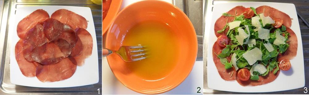 Carpaccio di bresaola con rucola e parmigiano ricetta veloce il chicco di mais 1