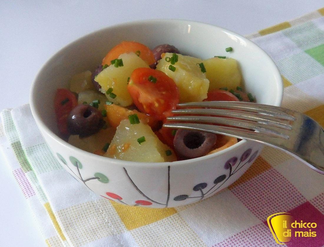 10 contorni per natale 2014 Insalata di patate con pachino e olive ricetta contorno freddo il chicco di mais