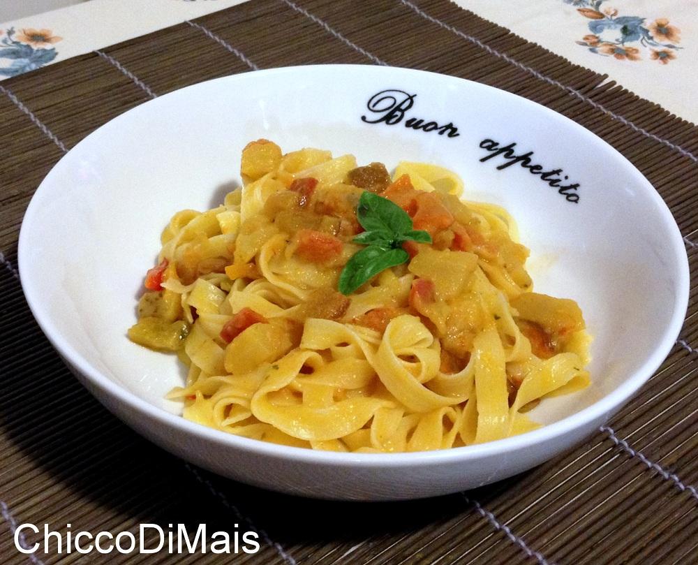 Ricette con melanzane facili e veloci il chicco di mais pasta al ragù di verdure