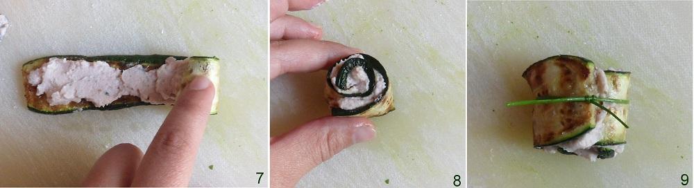 Rotolini di zucchine con mousse al cotto ricetta fingerfood il chicco di mais 3